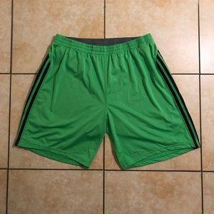Adidas Green/Black/Grey Climacool Athletic Shorts